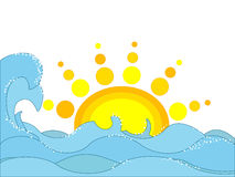Sea and sun Royalty Free Stock Image