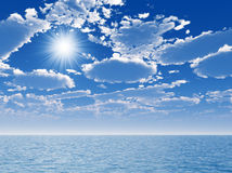 Sea and sun Royalty Free Stock Image