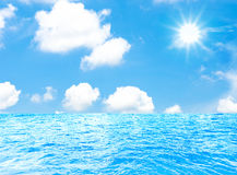 Sea and sun with blue sky Stock Photography