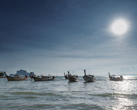 Sea, sun and boats Royalty Free Stock Photo