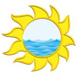 Sea and Sun logo Royalty Free Stock Images