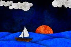 Sea, sun, sailboat Royalty Free Stock Photos