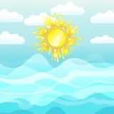 Sea and sun, summer background Stock Photo