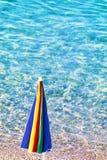 Sea and  sun   umbrella Royalty Free Stock Photos