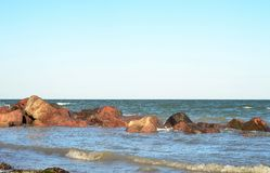 The sea and stones Royalty Free Stock Images
