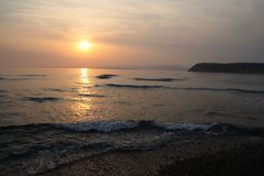 Sea sundown Royalty Free Stock Photos