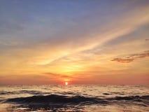 Sea sundown Royalty Free Stock Image