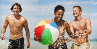 Sea Sunny Vacation Leisure Holiday Friends Concept royalty free stock photography