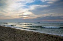 Sea sunrice Stock Image