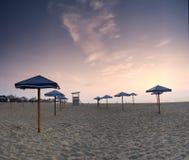 Sea sunrice. Landscape sea sunrice golden sky Stock Photography