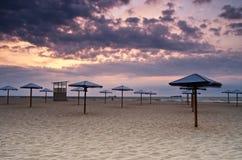 Sea sunrice. Landscape sea sunrice golden sky Royalty Free Stock Photo