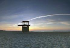 Sea sunrice. Landscape sea sunrice golden sky Stock Images