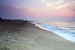 Sea sunrice. Landscape sea sunrice golden sky Stock Image