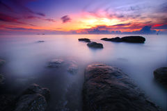 Sea sunrise Stock Images
