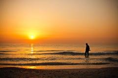 Sea and sunrise Stock Image