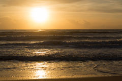 Sea and sunrise Royalty Free Stock Image