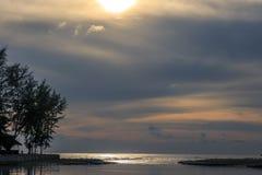 Sea sunrise. Beautiful sunset over the ocean. Sunrise in the sea Stock Photo