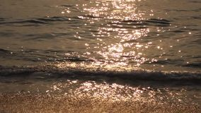 Sea at sunrise stock footage