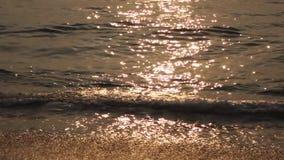 Sea at sunrise stock footage