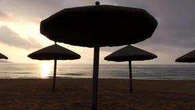 Sea at sunrise. Located in Sanya,Hainan,China stock video