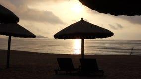 Sea at sunrise. Located in Sanya,Hainan,China stock video footage