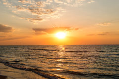 sea at sunrise Royalty Free Stock Images