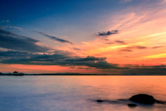Sea. Sunrise over the sea at Rayong in Thailand Stock Photo