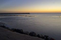 Sea before sunrise Stock Photography