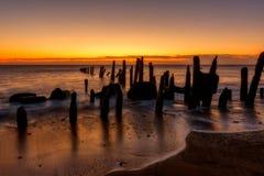 Sea, Sunrise, Sunset, Horizon Royalty Free Stock Images