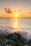 Sea sunrise with surf royalty free stock images