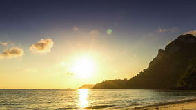 Sea sunrise time lapse stock video