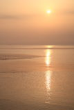 Sea sunrise of Toyama Bay Stock Images