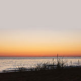Sea sunrise. View of calm sea at sunset, with place for your text, square image Royalty Free Stock Photos