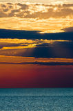 Sea sunset Royalty Free Stock Photos