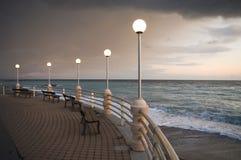 Sea sunset. Mediterranean,Italian coast Stock Photography