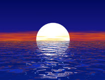 Sea sunset. The sunset  above sea in blue colors Stock Photography