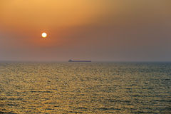 The sea at sunset Stock Photography