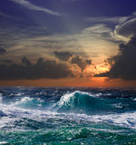 Sea in sunset Royalty Free Stock Photography