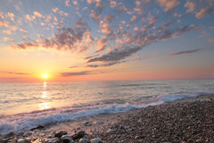 Sea sunset. Sunset on the Mediterranean Sea, Lebanon Royalty Free Stock Photos