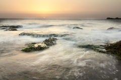 Sea sunset. Sunset on the Mediterranean Sea, Lebanon Royalty Free Stock Photo
