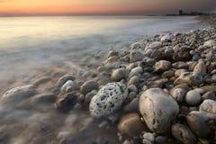 Sea sunset. Sunset on the Mediterranean Sea, Lebanon Stock Image