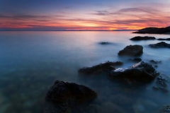 Sea after the sunset Stock Images