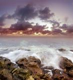 Sea on sunset Royalty Free Stock Image