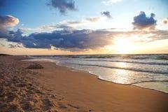 Sea sunset Royalty Free Stock Photos