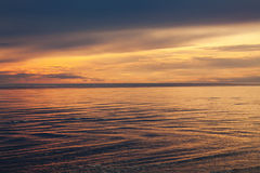 Sea ​​at sunset Stock Photography