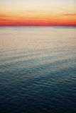 Sea in the sunset Stock Photography