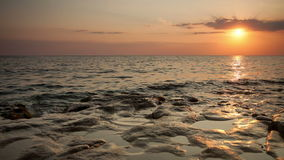 The sea at sunset. The sea at a sunset stock footage