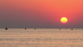 The sea at sunset. The sea at the sunset stock video footage