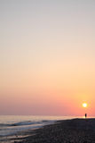 Sea Sunset Stock Photography