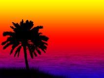 Sea sunset. Illustration of a beautiful sea sunset stock illustration